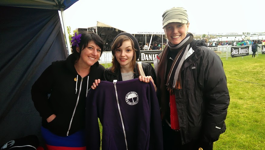 Lauren Mayberry from CHVRCHES and Rain City Rock Camp for Girls at Sasquatch 2013